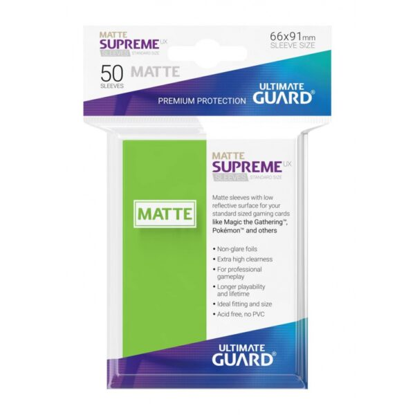 50 Sleeves Standard Vert Clair Mat NEUF Ultimate Guard