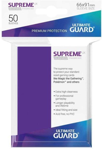 50 Sleeves Standard Violet NEUF Ultimate Guard