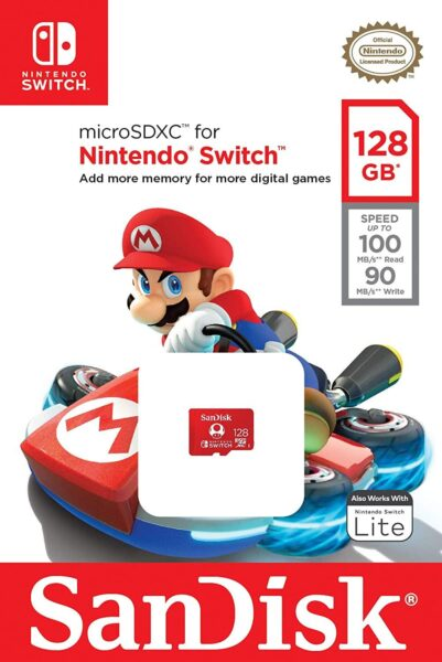 Carte Mémoire Micro SD 128GB NEUF Nintendo Switch