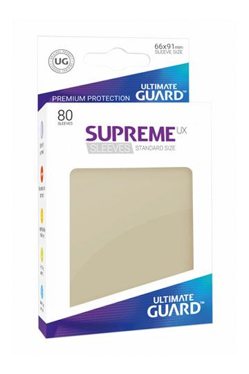 80 Sleeves Standard Sable NEUF Ultimate Guard