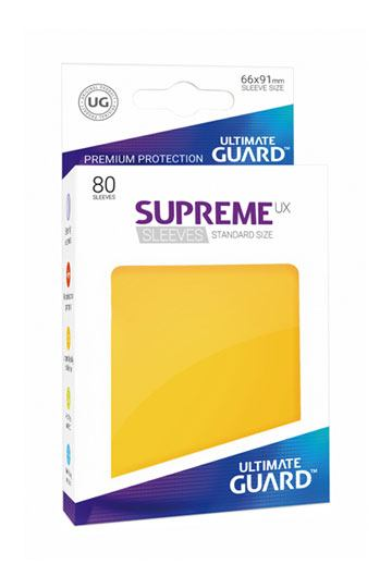 80 Sleeves Standard Jaune NEUF Ultimate Guard
