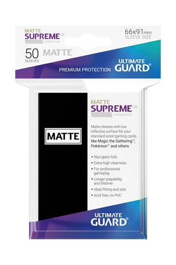 50 Sleeves Standard Noir Mat NEUF Ultimate Guard