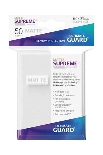 50 Sleeves Standard Blanc Mat NEUF Ultimate Guard