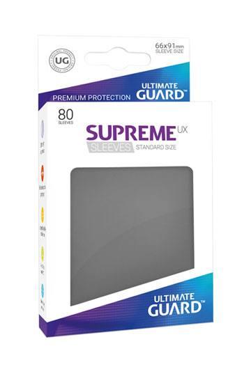 80 Sleeves Standard Gris Foncé NEUF Ultimate Guard