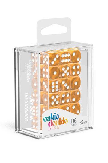 Dés D6 12mm Marble Orange NEUF Oakie Doakie