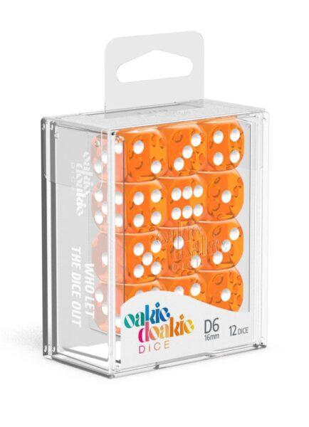 Dés D6 16mm Translucent Orange NEUF Oakie Doakie