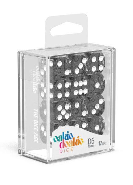 Dés D6 16mm Speckled Noir NEUF Oakie Doakie