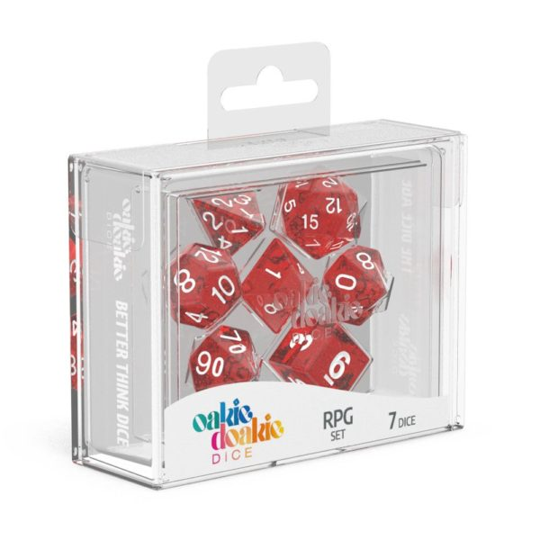 Dés RPG Set Speckled Rouge NEUF Oakie Doakie