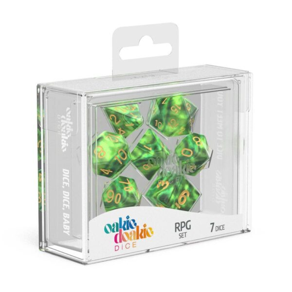Dés RPG Set Gemidice Jungle NEUF Oakie Doakie
