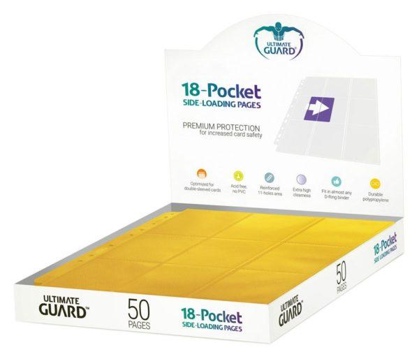 18-Pocket Pages Side-Loading Jaune (50) NEUF Ultimate Guard