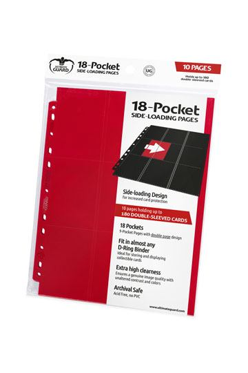 18-Pocket Pages Side-Loading Rouge (10) NEUF Ultimate Guard