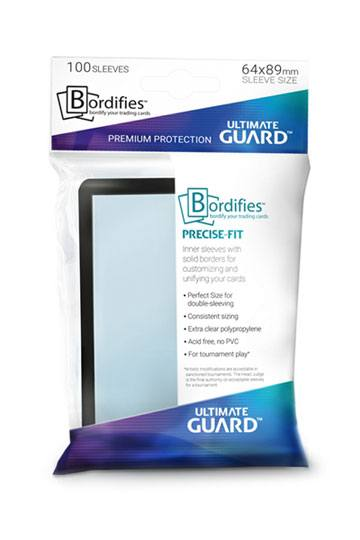 100 Sleeves Standard Precise-Fit Bordifies NEUF Ultimate Guard