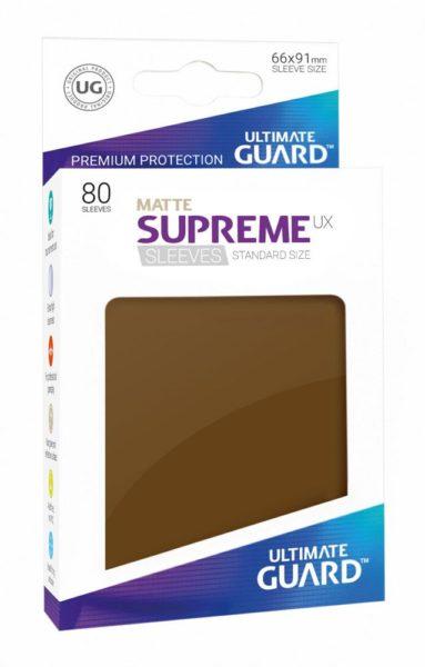 80 Sleeves Standard Marron Mat NEUF Ultimate Guard