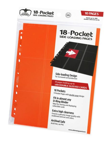 18-Pocket Pages Side-Loading Orange (10) NEUF Ultimate Guard