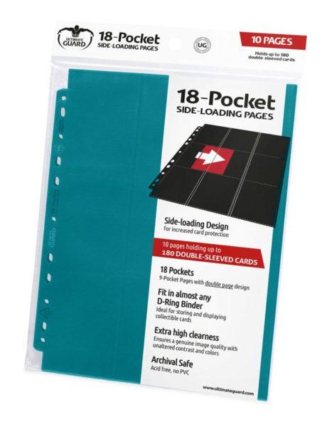 18-Pocket Pages Side-Loading Bleu Pétrole (10) NEUF Ultimate Guard