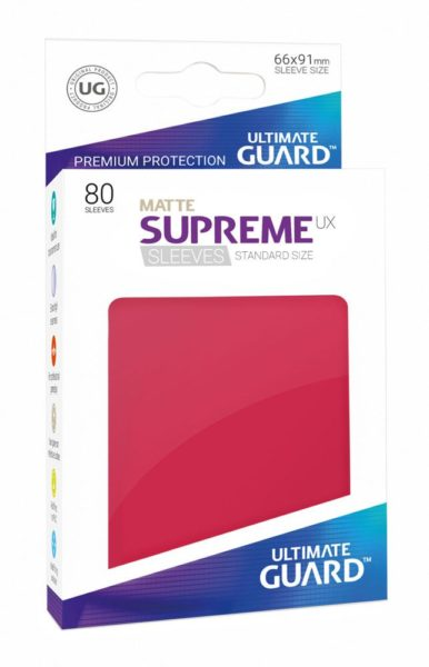 80 Sleeves Standard Rouge Mat NEUF Ultimate Guard