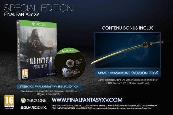 Final Fantasy XV Special Edition OCCASION Xbox one